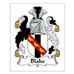 Blake Family Crest Small Poster