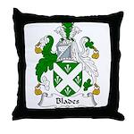 Blades Family Crest Throw Pillow