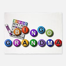 Bingo playing grandma 5'x7'Area Rug