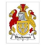 Blackman Family Crest Small Poster