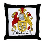Blackman Family Crest Throw Pillow