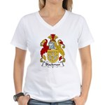 Blackman Family Crest Women's V-Neck T-Shirt