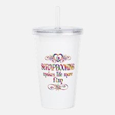 Scrapbooking More Fun Acrylic Double-wall Tumbler