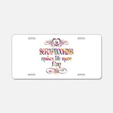 Scrapbooking More Fun Aluminum License Plate