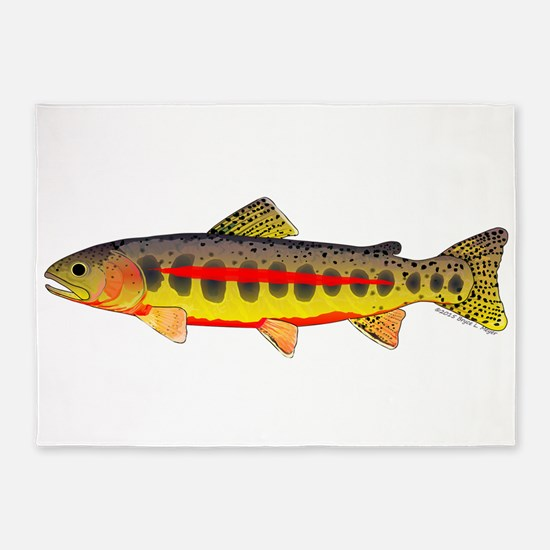 Golden Trout 5'x7'Area Rug