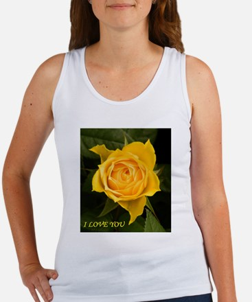 I Love You With Yellow Rose Tank Top