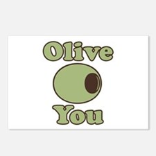 Olive You Postcards (Package of 8)