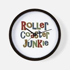 Roller Coaster Junkie Fanatic Wall Clock