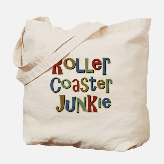 Roller Coaster Junkie Fanatic Tote Bag