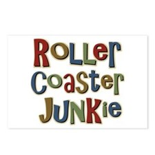 Roller Coaster Junkie Fanatic Postcards (Package o