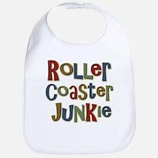 Roller Coaster Junkie Fanatic Bib
