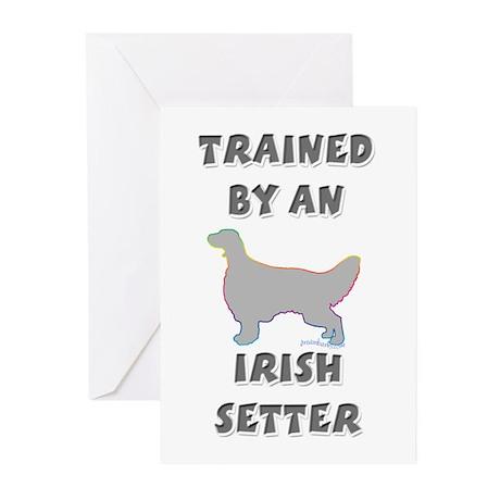 Irish Setter Slvr Greeting Cards (Pk of 20)