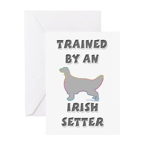 Irish Setter Slvr Greeting Card