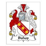 Bishop Family Crest Small Poster