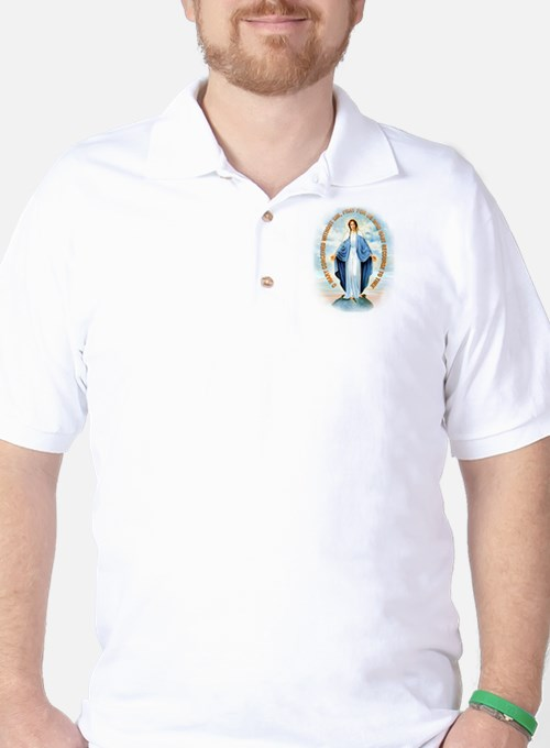 Miraculous Medal Golf Shirt