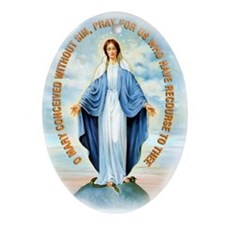 Miraculous Medal Ornament (Oval)