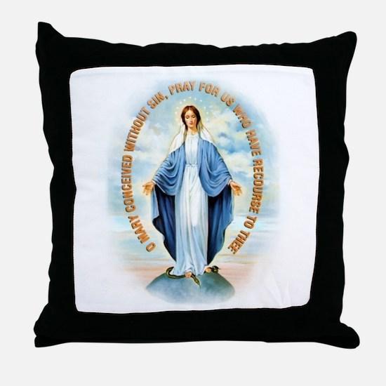 Miraculous Medal Throw Pillow