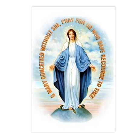 Miraculous Medal Postcards (Package of 8)