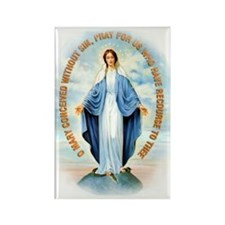 Miraculous Medal Rectangle Magnet