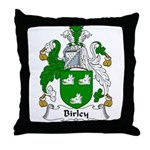 Birley Family Crest  Throw Pillow