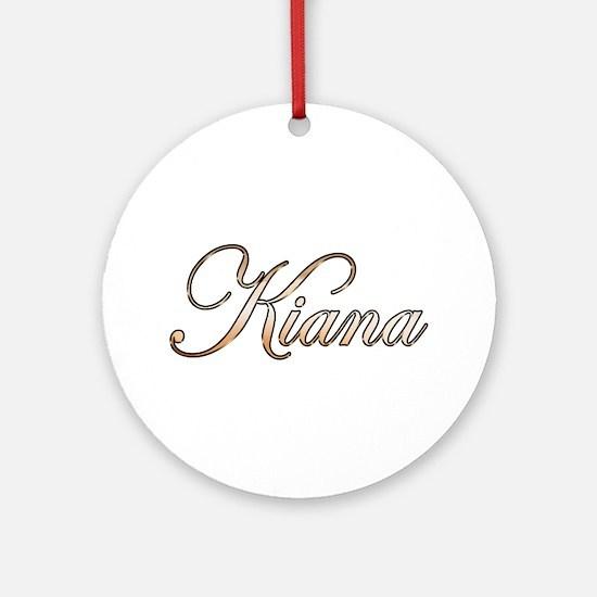 Gold Kiana Round Ornament