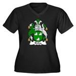 Birley Family Crest  Women's Plus Size V-Neck Dark