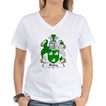 Birley Family Crest  Women's V-Neck T-Shirt