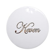 Gold Keven Round Ornament