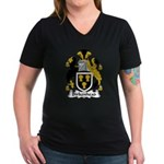 Birkenhead Family Crest Women's V-Neck Dark T-Shir