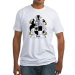 Bird Family Crest Fitted T-Shirt