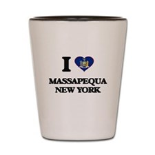 I love Massapequa New York Shot Glass