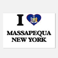 I love Massapequa New Yor Postcards (Package of 8)