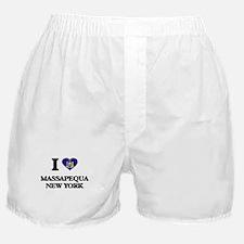 I love Massapequa New York Boxer Shorts