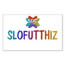 SLOFUTTHIZ Products Rectangle Decal