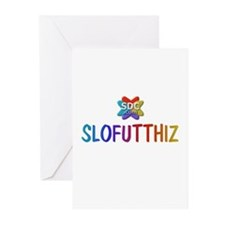 SLOFUTTHIZ Products Greeting Cards (Pk of 10)