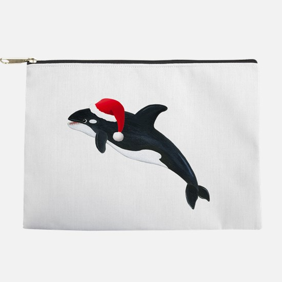 Christmas Whale Makeup Pouch