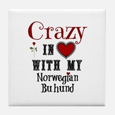 Norwegian Buhund Tile Coaster