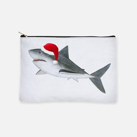 Christmas - Santa Shark Makeup Pouch