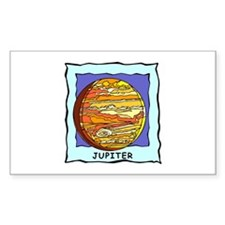 Planet Jupiter Rectangle Decal