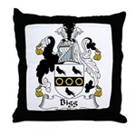 Bigg Family Crest Throw Pillow