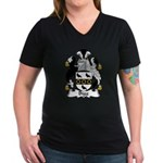 Bigg Family Crest Women's V-Neck Dark T-Shirt