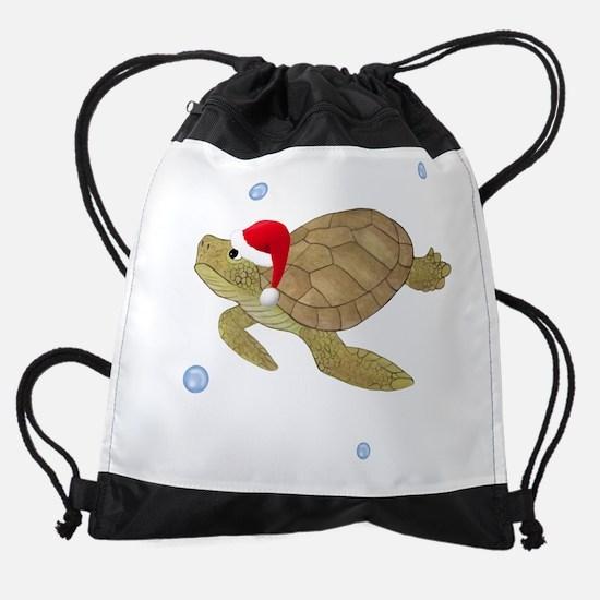 Santa - Turtle Drawstring Bag