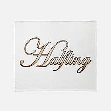 Gold Halfling Throw Blanket
