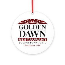 Golden Dawn Ornament (Round)