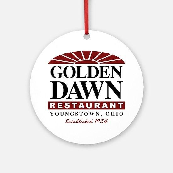 Golden Dawn (round) Round Ornament
