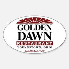 Golden Dawn Oval Decal