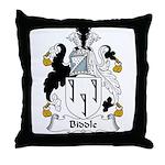 Biddle Family Crest Throw Pillow