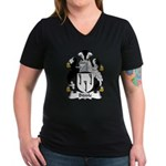 Biddle Family Crest Women's V-Neck Dark T-Shirt