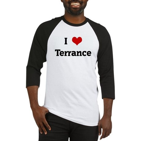 I Love Terrance Baseball Jersey