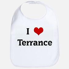 I Love Terrance Bib